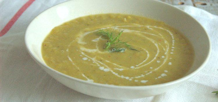 Romige peen en venkel soep