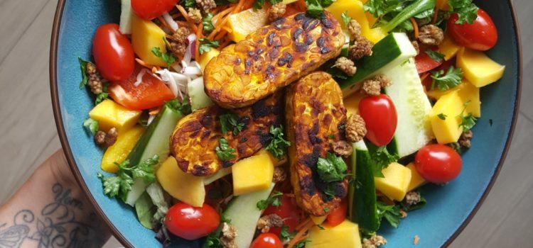 2 salade varianten met heel veel kleur